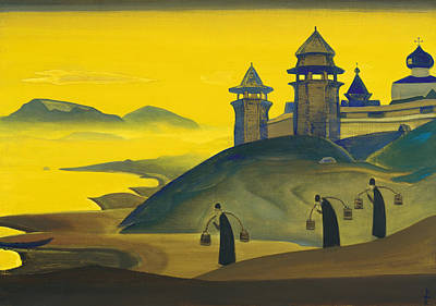 Suggestive Painting - And We Are Trying by Nicholas Roerich