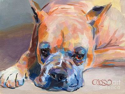 Rescue Dog Painting - Andre by Kimberly Santini