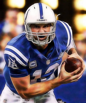 Andrew Luck Mixed Media - Andrew Luck Collection by Marvin Blaine