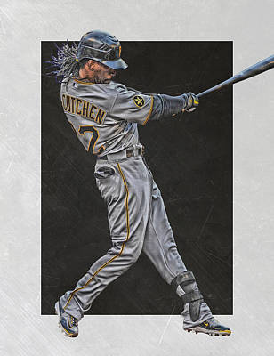 Andrew Mccutchen Mixed Media - Andrew Mccutchen Pittsburgh Pirates Art by Joe Hamilton