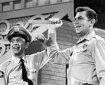 Don Knotts Photograph - Andy Griffith And Don Knotts - 1970 by Mountain Dreams