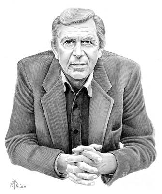 Andy Griffith Art Print by Murphy Elliott