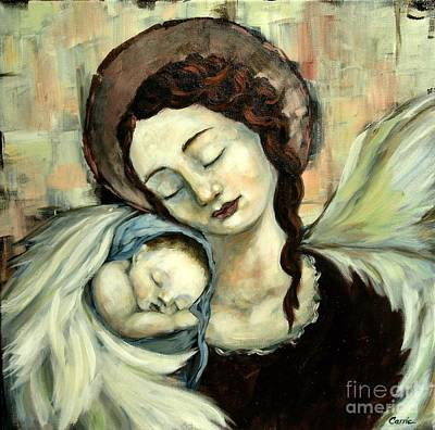 Angel And Baby Art Print