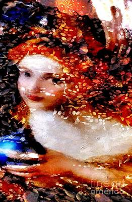 Broadcast Painting - Angel by Catherine Lott