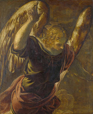 Madonna Painting - Angel From The Annunciation To The Virgin by Tintoretto