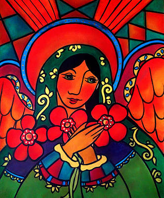 Painting - Angel Of Peace by Jan Oliver-Schultz