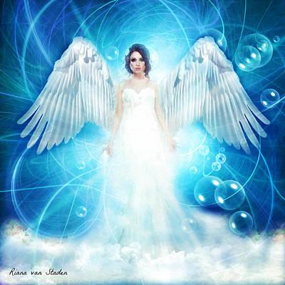 Digital Art - Angel by Riana Van Staden