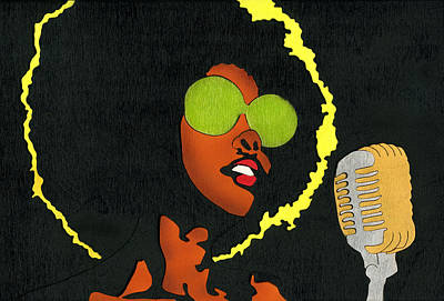 Mixed Media - Angela Sings by Fred Gardner