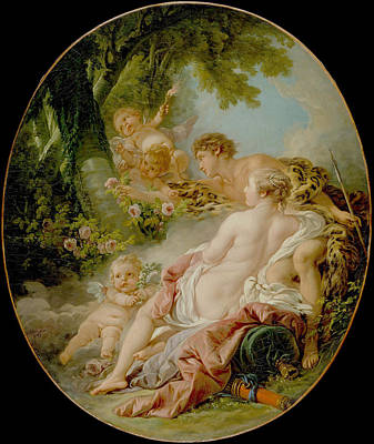 Photograph - Angelica And Medoro  by Francois Boucher