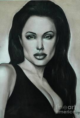 Angelina Jolie Art Print by Anastasis  Anastasi