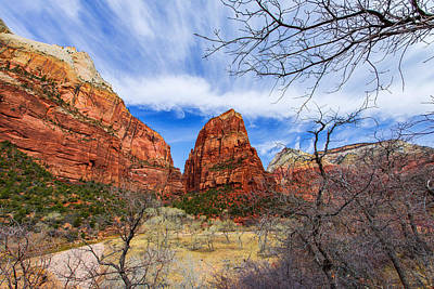 Stream Photograph - Angels Landing by Chad Dutson