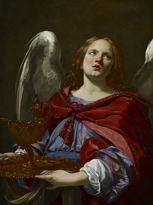 Communion Painting -  Angels With Attributes Of The Passion by Simon Vouet