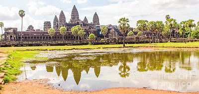 Photograph - Angkor Wat Temple Siem Reap 18 by Rene Triay Photography