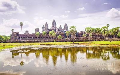 Photograph - Angkor Wat Temple Siem Reap by Rene Triay Photography