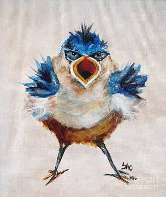 Painting - Angry Bird by Susan Cliett