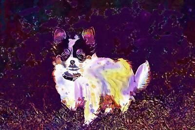 Chihuahua Digital Art - Animals Dogs Puppies Chihuahua  by PixBreak Art