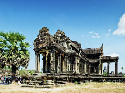 Butterflies Rights Managed Images - Ankgor Wat Famous Landmark Temple Detail Near Siem Reap Cambodia Royalty-Free Image by JM Travel Photography