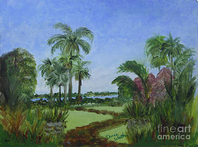 Painting - Ann Norton Garden by Donna Walsh