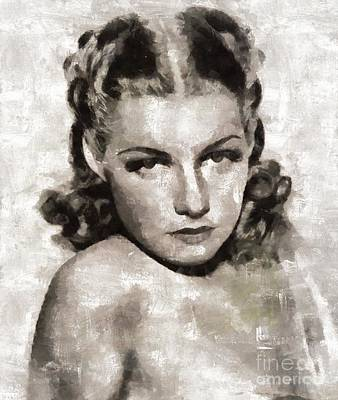 Elvis Presley Painting - Ann Sheridan Hollywood Actress by Mary Bassett