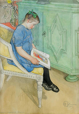 Painting - Anna-johanna by Carl Larsson