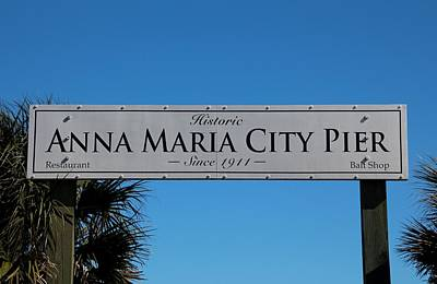 Photograph - Anna Maria City Pier by Michiale Schneider