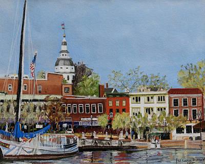 Annapolis Harbor Art Print by Mary Susan Vaughn