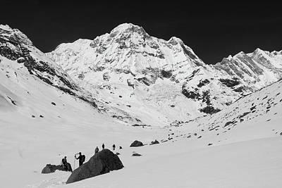 Annapurna South, Himalayas, Nepal Art Print by Aidan Moran