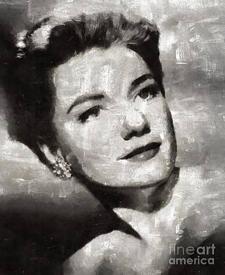 Elvis Presley Painting - Anne Baxter Vintage Hollywood Actress by Mary Bassett