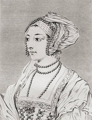 Anne Boleyn, Also Spelled Bullen Art Print by Vintage Design Pics