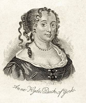 Duchess Drawing - Anne Hyde Duchess Of York 1637-1671 by Vintage Design Pics