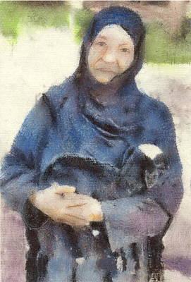 Drawing - Anne's Lamb by John Brisson
