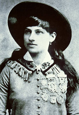 Sharpshooter Photograph - Annie Oakley by American School