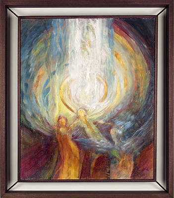 Painting - Another Angel Gets Its Wings by Teresa Dunwell