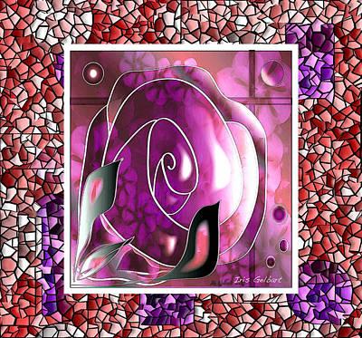 Digital Art - Another Rose by Iris Gelbart