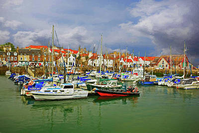 Peaceful Photograph - Anstruther Harbor by Marcia Colelli