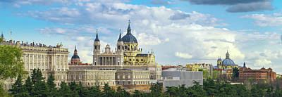 Photograph - anta Maria la Real de La Almudena Cathedral and the Royal Palace by Anek Suwannaphoom