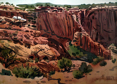 Canyon Painting - Antelope House Overlook 2003 by Donald Maier