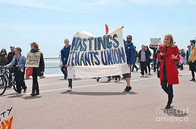 Photograph - Anti Austerity March In Hastings by David Fowler