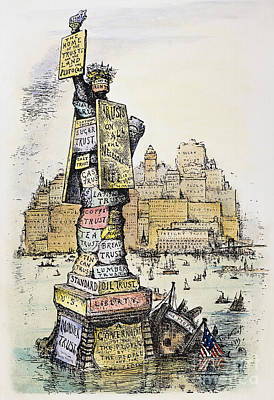 Anti-trust Cartoon, 1889 Art Print by Granger