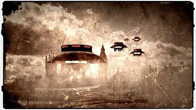 Antique Aliens By Raphael Terra Art Print by Raphael Terra