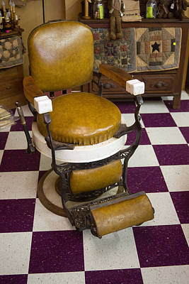 Antique Barber Chair 3 Art Print