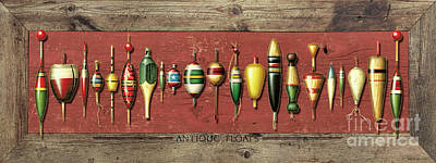 Antique Bobbers Painting - Antique Bobbers by JQ Licensing