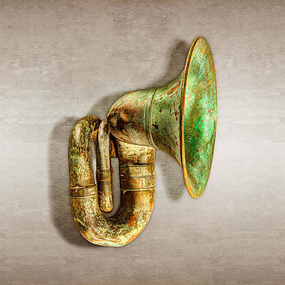 Photograph - Antique Brass Car Horn by YoPedro