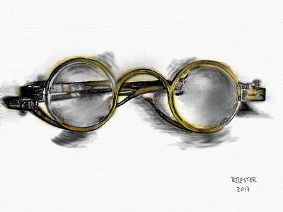 Antique Look Digital Art - Antique Glasses by Ricardo Mester
