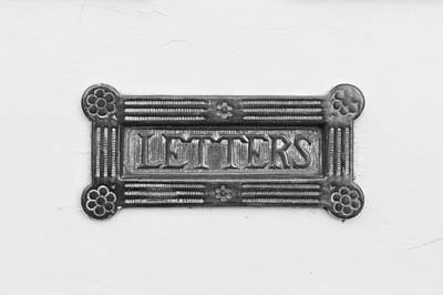 Delivering Photograph - Antique Letterbox by Tom Gowanlock