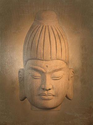 antique oil effect Buddha Burmese. Art Print by Terrell Kaucher