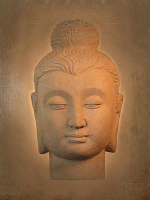 antique oil effect Buddha Gandhara. Art Print by Terrell Kaucher