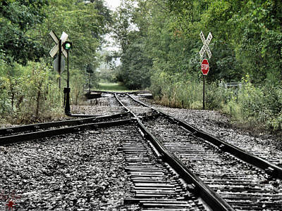 Photograph - Antique Railroad Track by Scott Hovind