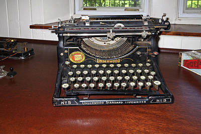 Photograph - Antique Typewriter by Sally Weigand