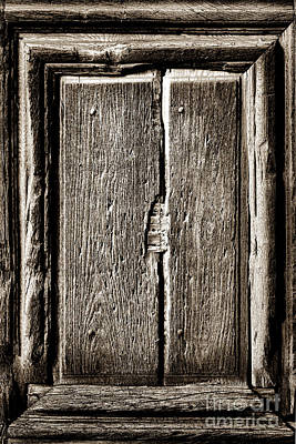 Antique Wood Door Panel Print by Olivier Le Queinec